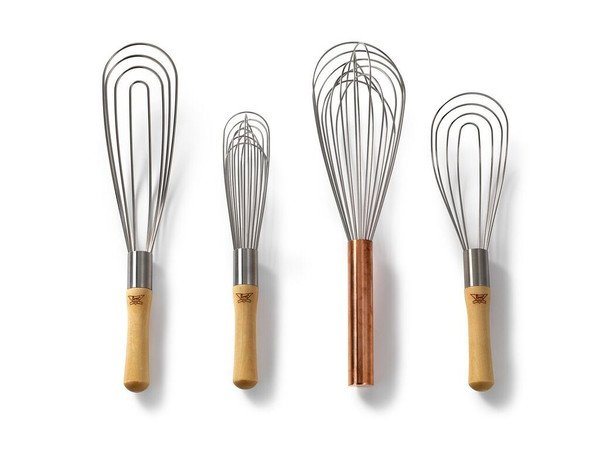 """BEST WHIPS 10"""" Wooden Handle French Whisk"""