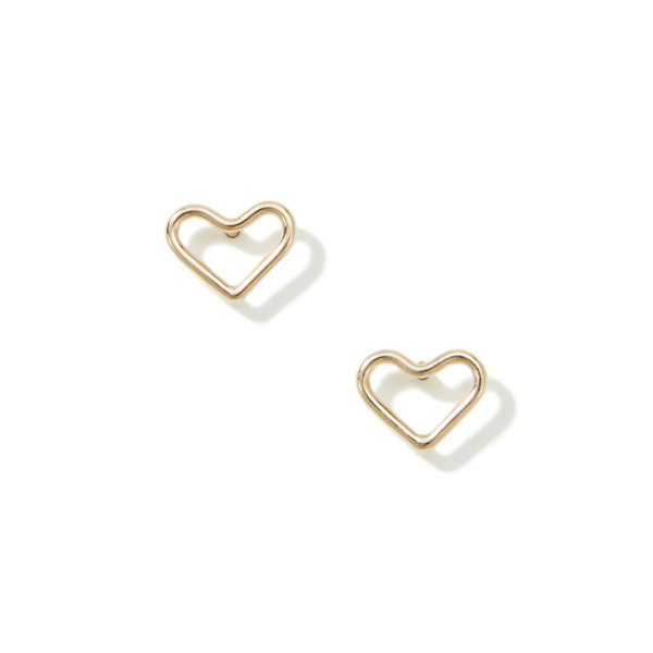 ARIEL GORDON Heart Silhouette Studs