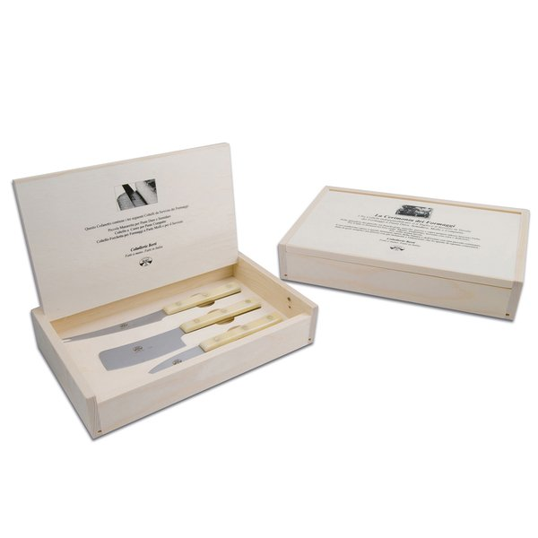 COLTELLERIE BERTI FOR MATCH White Insieme Cheese Knives, Set of 3