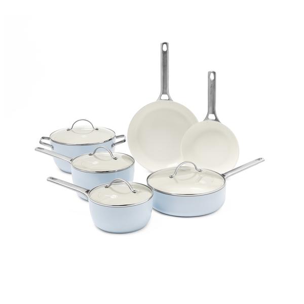 GREENPAN Padova Ceramic Nonstick 10-Piece Cookware Set