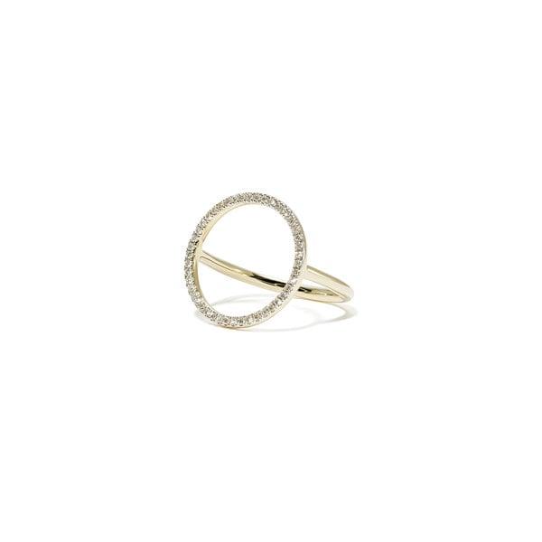ERINESS Diamond Circle Ring