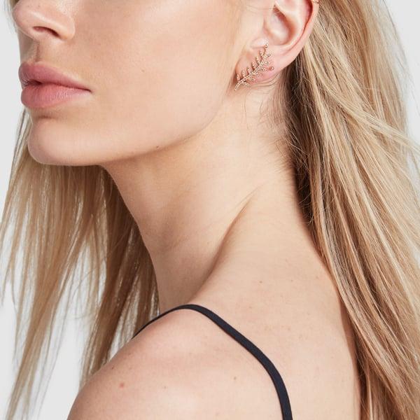 ROSA DE LA CRUZ Ivy Gold Diamond Ear Cuffs