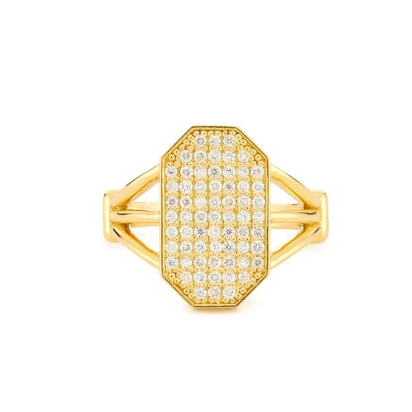 ARK FINE JEWELRY Devi Shield Diamond Ring