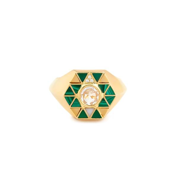 HARWELL GODFREY Elements Stone Inlay Pinky Ring