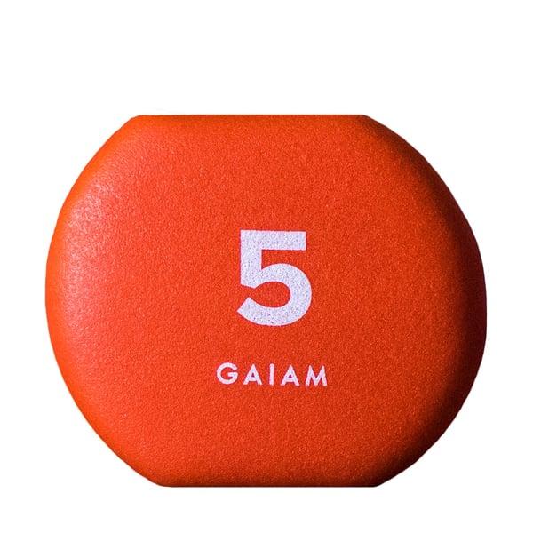 GAIAM Neoprene Hand Weights, 5 lbs.