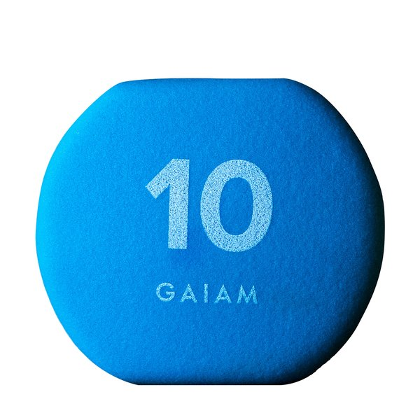 GAIAM Neoprene Hand Weights, 10 lbs.