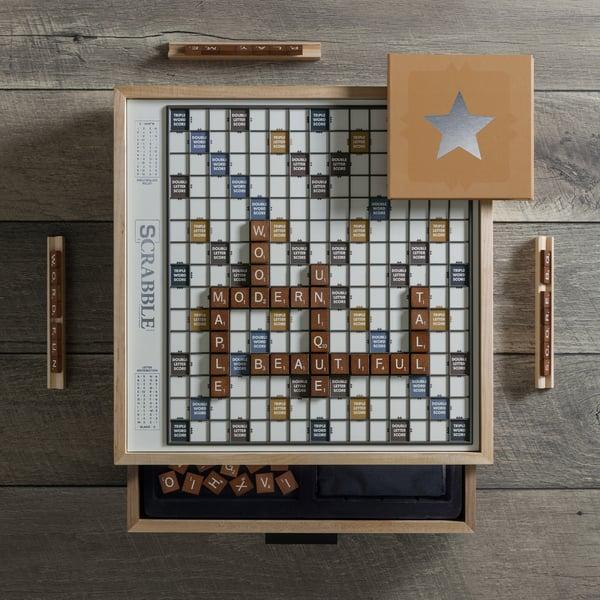 WS GAME COMPANY  Maple Luxury Edition Scrabble