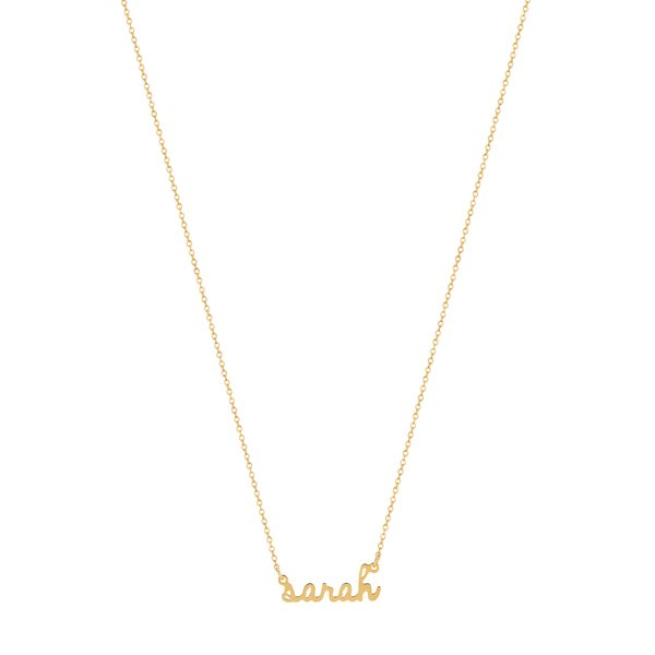 SARAH CHLOE Ava Mini Name Necklace