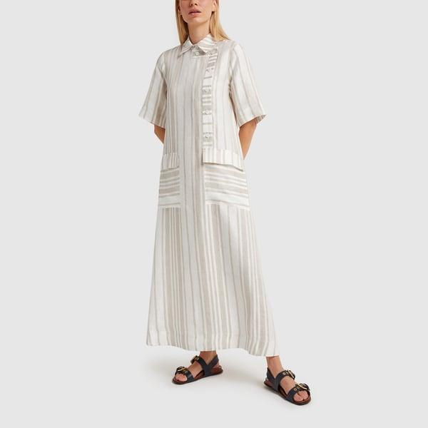 CO Asymmetrical Closure Shirtdress