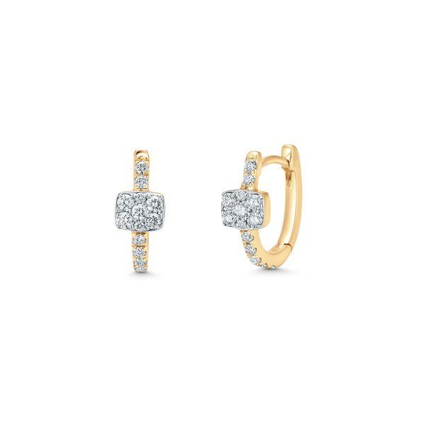 SARA WEINSTOCK Adira Emerald Huggie Earrings