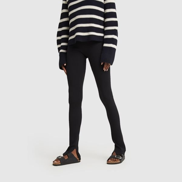 MARIA MCMANUS High-Waisted Rib Leggings