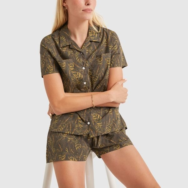 MATIN Leaf-Print Shirt