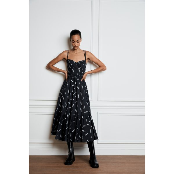G. LABEL Bailey Midlength Bustier Dress