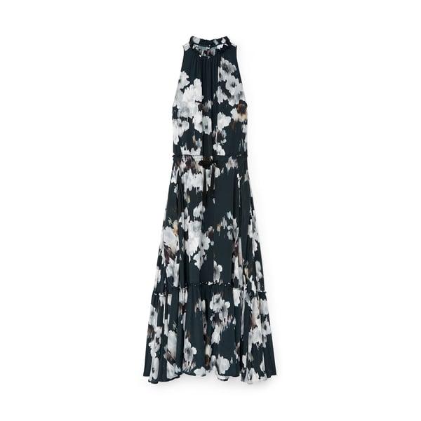 G. LABEL Sammy Midlength Pleat-Neck Dress
