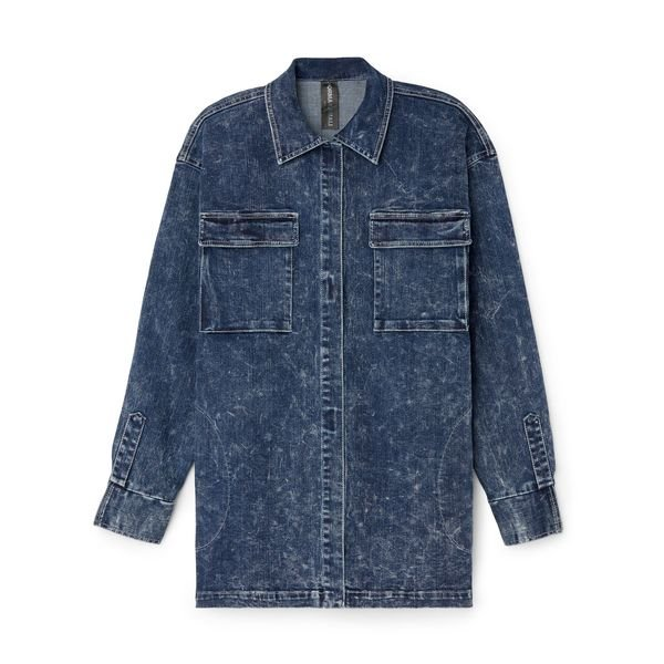 NORMA KAMALI Oversize Boyfriend Cargo Shirt