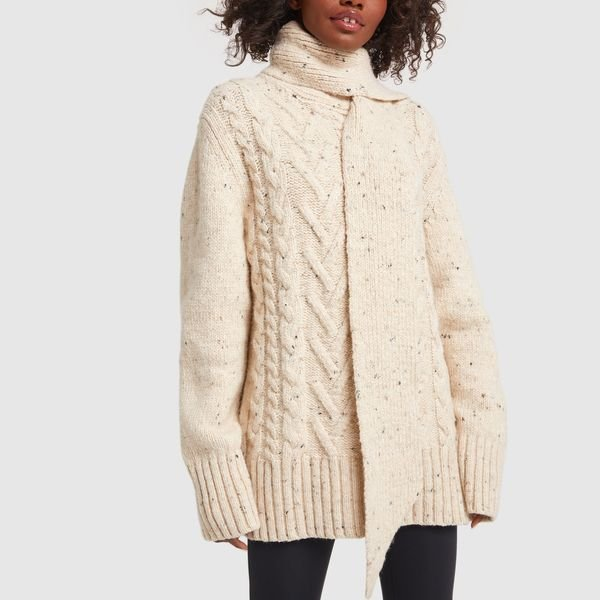 GANNI Cable-Knit Pullover Sweater