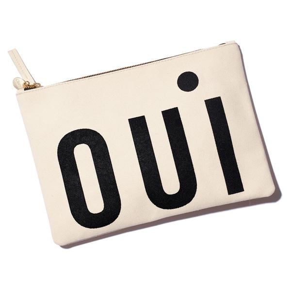 """oui"" flat clutch"
