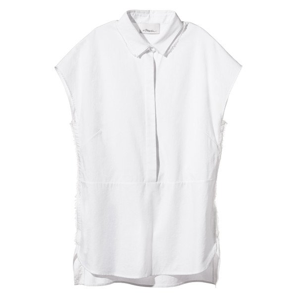 cap sleeve collared shirt