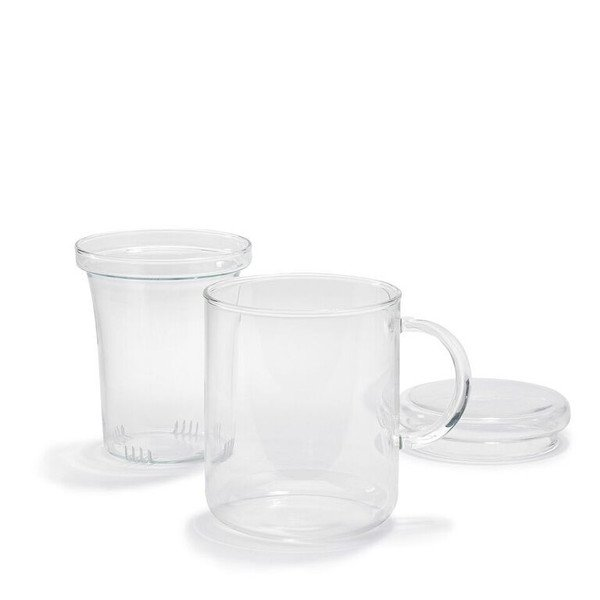 German Glass Tea Cup With Strainer