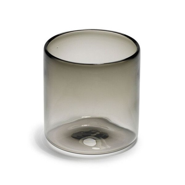 Hand-Blown Double Old Fashion Grey Glass