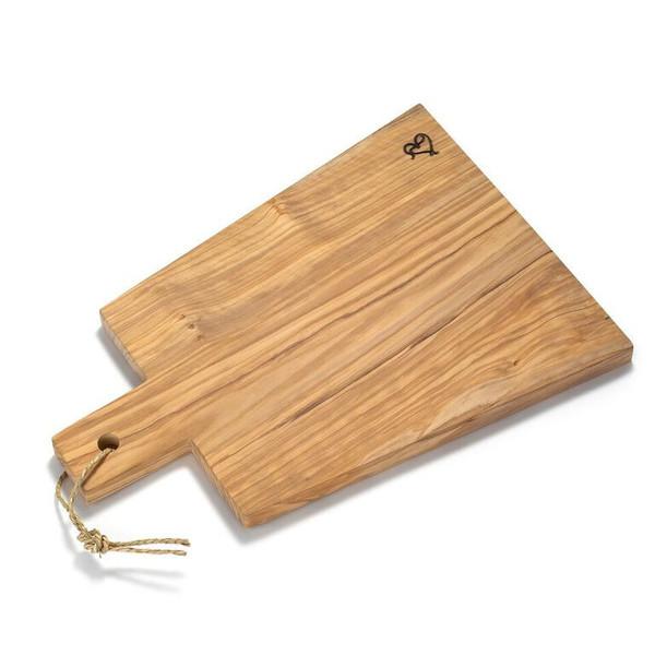 Italian Olive Wood Cutting Board With Handle