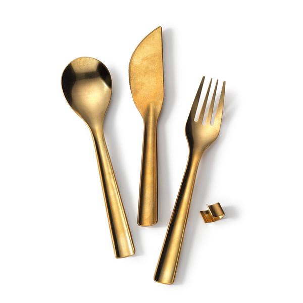 Japanese Brass Flatware Set