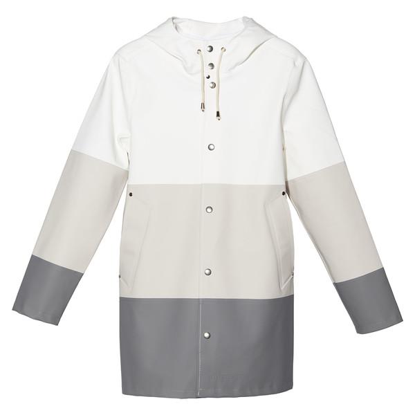 Large Stripe Grey Raincoat