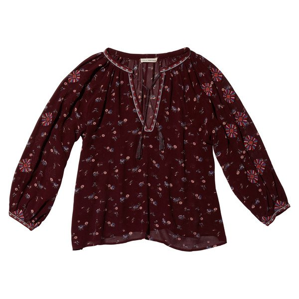 Lida Blouse In Embroidered Floral Georgette