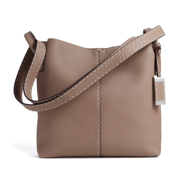 Medium Slouchy Hobo Bag in Grained Calf Leather