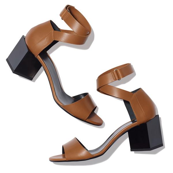 monolite cubic mid heel sandal