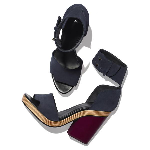 rawcut high block heel sandal