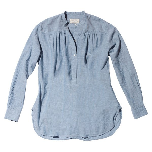 Ruched Blouse in Blue