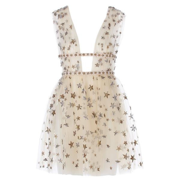 Sleeveless tulle mini dress