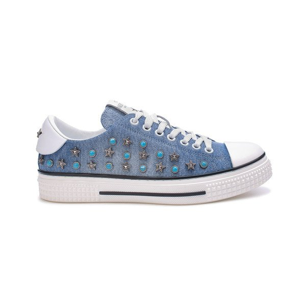 Star studded denim sneaker