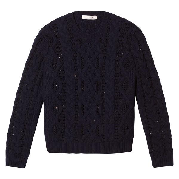 Stone-Embellished Sweater