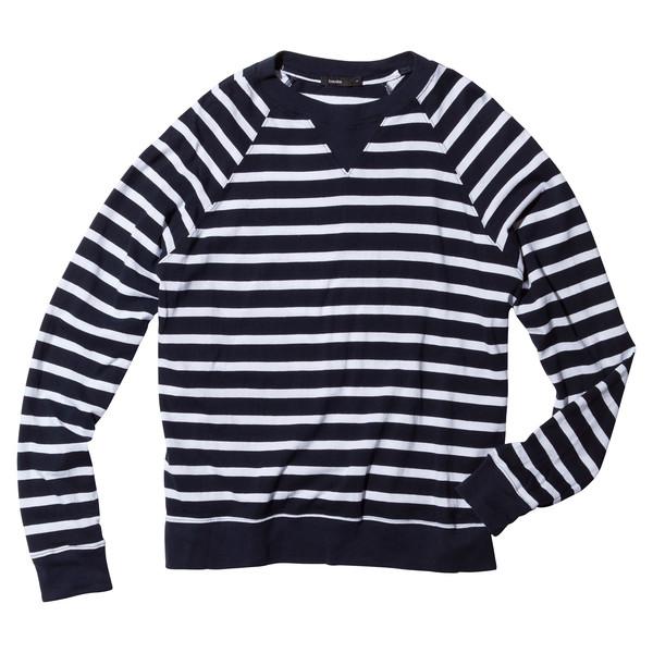 Striped Raglan V-Insert Sweatshirt