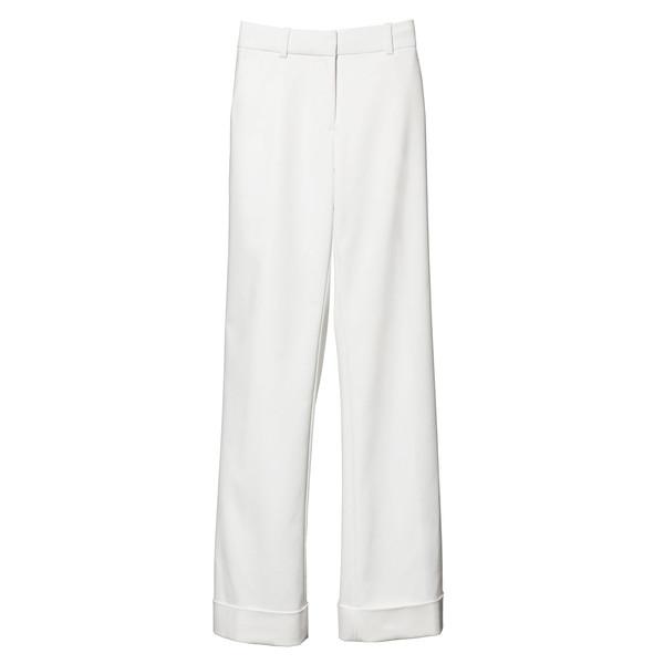 wide leg cuffed trouser