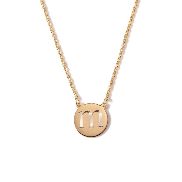 Cara Round Necklace Gold Plated