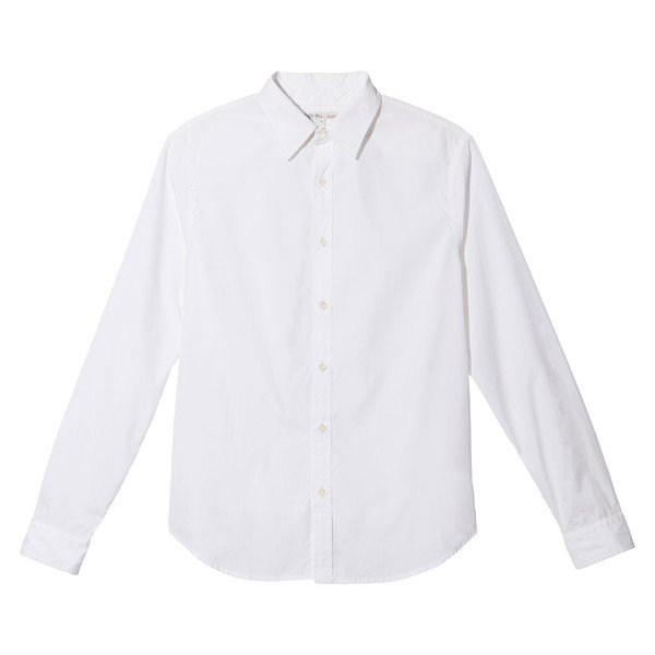 End On End School Shirt White