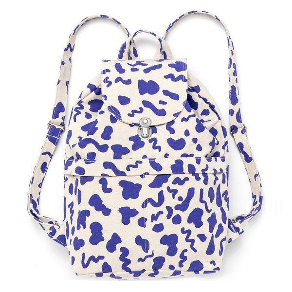 Printed Recycled Cotton Backpack Natural Palette