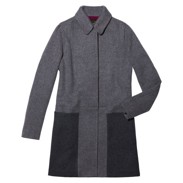 A-Line Coat With Contrast Panels