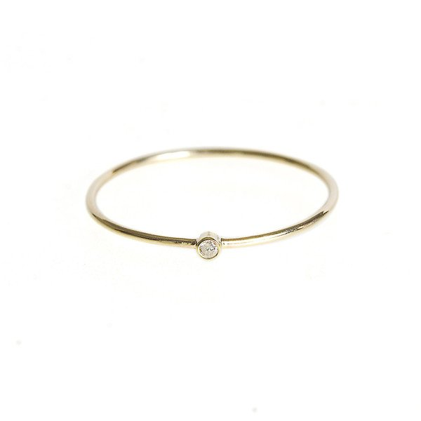 Thin Ring With Diamond