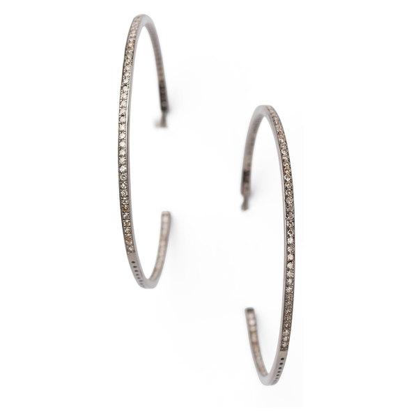 Sheryl Lowe Diamond Hoops