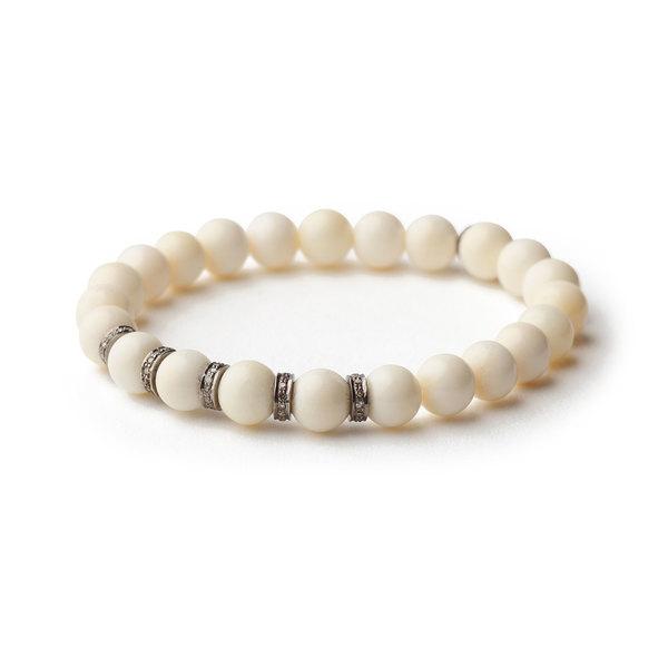 Sheryl Lowe Small Bone Pave Bracelet