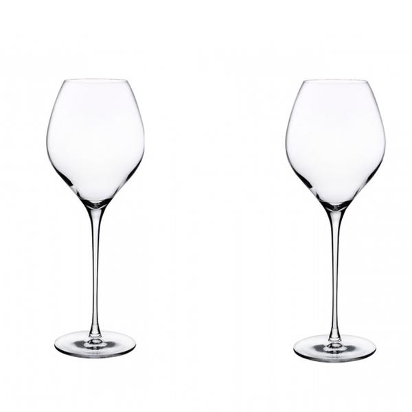 Nude Glass  Fantasy White Set of 2