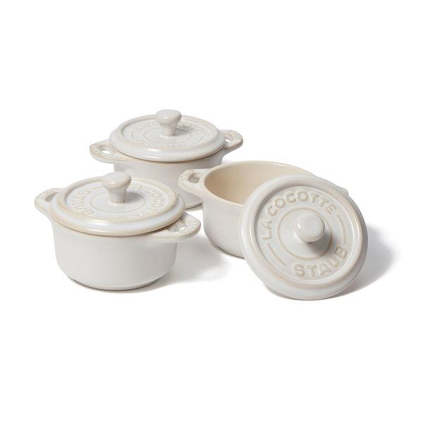 Staub 3-Piece Mini Round Cocotte Set