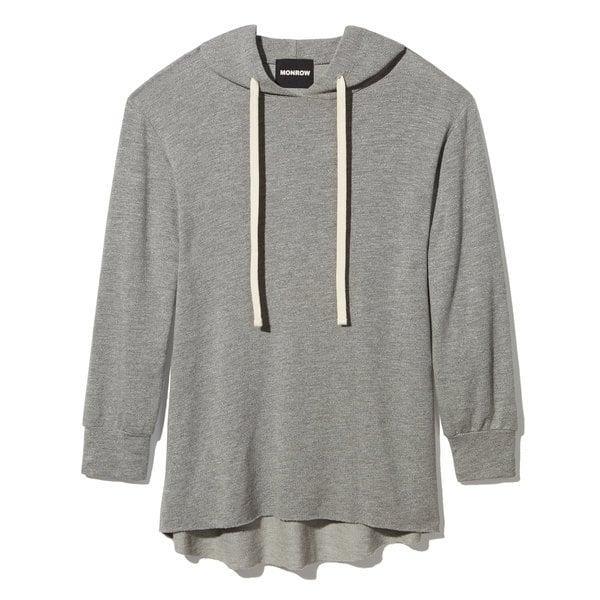Monrow Dark-Heather Slouchy Sweater
