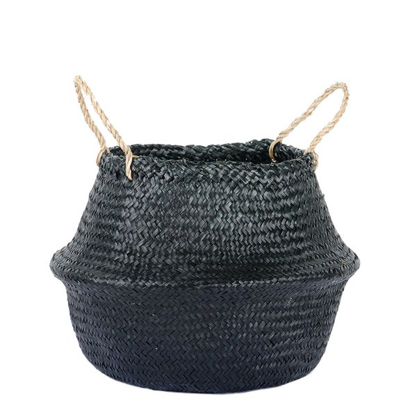 Connected Goods Woven Collapsible Rice Belly Basket-Large