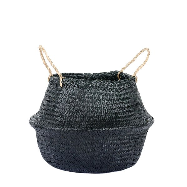 Connected Goods Woven Collapsible Rice Belly Basket-Small