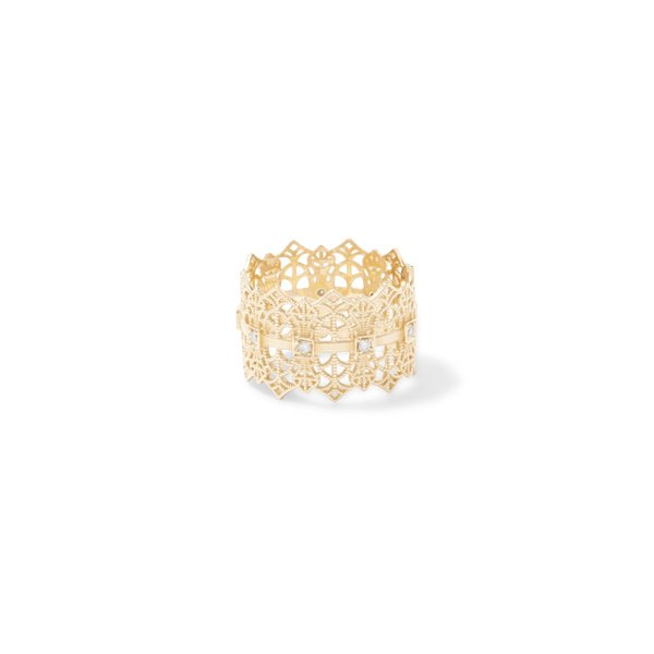Grace Lee Lace Crown Ring With Diamonds